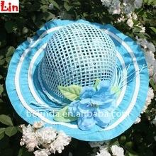 children fashion blue beach hat