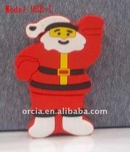 festival gift usb memory Santa Claus USB Stick promotion on December