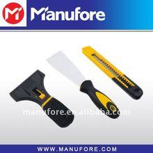 3pcs decoration tools set,(18mm blade knife+scraper+putty knife)