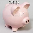 ceramic piggy bank pink colour