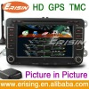 Erisin Dashboard 7 Inch VW Car DVD Bluetooth GPS Navi ce 6.0 system TMC Radio USB/SD/CD 3D PiP