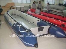 CE hh-s550 big 5.5m inflatable sport boat aluminum floor