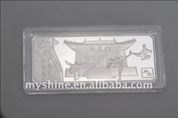 latest engraved kongfu 100 gram 999 silver bullion bars