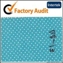 printed light blue dot on cotton fabric