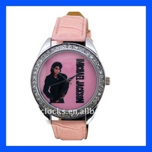 vogue watch hot sale fashion Limited edition brand watch of pink thin strap on memory of JACKSON