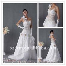 High Quality 3D Flower Belt Real Sample Wedding dress 2012