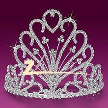 Beauty flower design diamond pageant crown