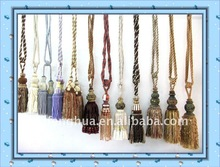 Modern decorative Curtain Tassel trimming .