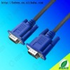 High definition 15 pin male gold flash contact thin vga cable