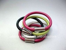 charm ions stainless metal silicone bracelet