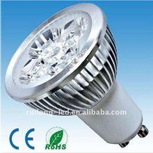 2012 Newly GU10 4W led GU10 spotlight by elaborate manufacture Bridgelux chip 4*1w GU10/E27/E12/E14/E17;240-300lm
