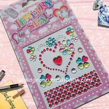 Rhinestone/crystal/gem Jewels stickers-Heart