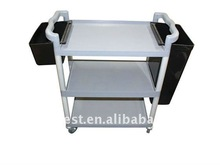 Plastic Cleaning 3 Shelf Service Trolley Cart