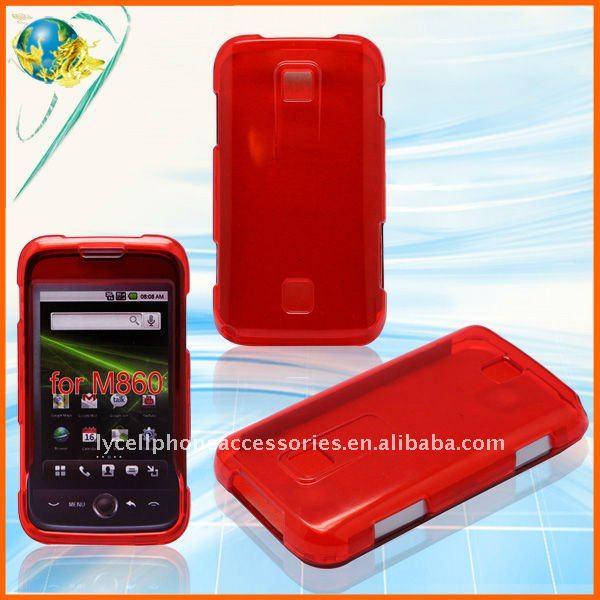 For HuaWei Ascend M860 transparent plastic crystal case