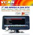 Dvb-t7012hd 7 بوصة محمول المحمولة استقبال تلفزيون hd 800x480 الشاشةالحد mpeg2-4/h. 264 مدمجةبطارية hdmi tvpad