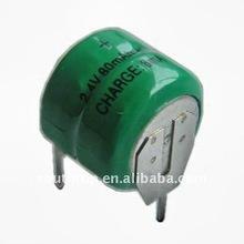 ni-mh button battery / 2.4v 80mah