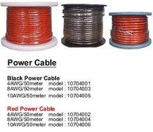 Global price power supply cable reel,50m/reel black/red