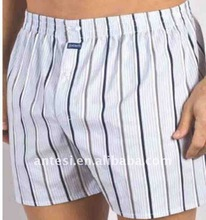 100% cotton men's woven boxers