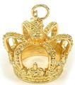 3D design de metal pingente de coroa de ouro / encantos para colar, Vários projetos e serviço de OEM