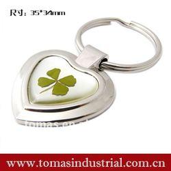 Lucky four leaves clover key rings fobs