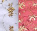 bordado de tela de seda