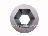 inside cement lining steel pipe external circle internal hexagon steel pipe