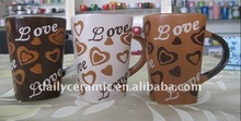 love heart handprinting 11oz ceramic coffee mug
