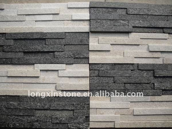 Decorative Pure White Quarzite Stacked Stone Wall Cladding