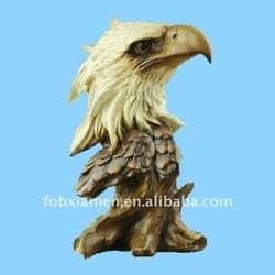 resin large eagle hawk head bust figure sculpture