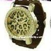 Custom Leopard Print Diamond Watch
