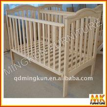 modern pine baby crib