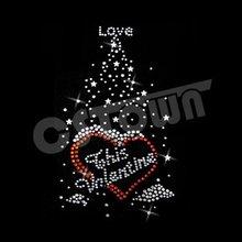 2012 Crystal lover tree iron on rhinestone transfers