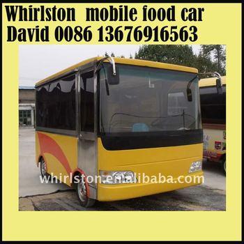 Mini-bus type mobile food cart