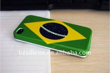 For iphone 4/ 4s flag design mobile phone protective cover,brazil flag
