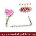 venta caliente en forma de corazón magnético plegable bolso de cierres