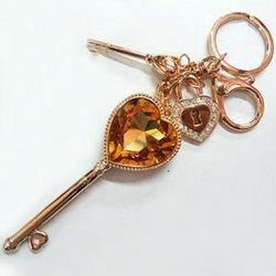 lock and key couple keychain heart shaped keyring alloy key chain key rings fobs