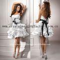2012 ruched strapless appliqued ruffled personalizado - feito pouco branco vestido curto vestido de noiva cwfaw3649