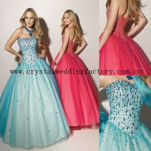 2012 sexy beaded strapless custom-made christmas formal ball gown CWFab3654
