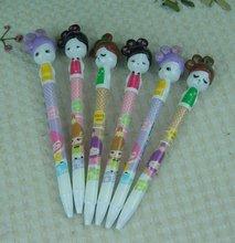 promotional advertising girl cartoon ball point pen children day gift wholesale plastic ballpoint pen
