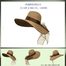 Ribbon Band ML Wide Brim Straw Hat - Natural ccap-6577