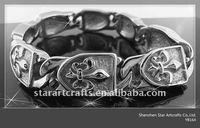 YB164 316L stainless steel fashion samoan bracelet