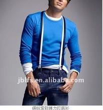 colorful fit elastic long sleeve t shirt