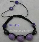 fashion crochet bead bangle