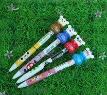 fashion cartoon character promotional plastic christmas children gift ballpoint pen promotional transparent ball point pen