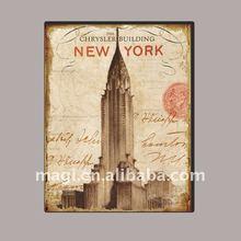 Classic New York Chrysler Decorative Art Print Canvas Building Oil Painting