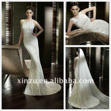2012 Spring New Design Sheath Lace Wedding Dresses XZ11010122