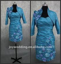ED034 Free shipping Real samples 2011 taffeta bridal wedding short mother dress 2012