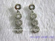 fashion glitter crystal earrings for girls
