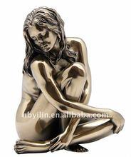 copper brass nude girl sexy home art decor statues
