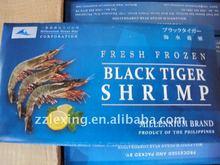 fresh frozen black tiger shrimp